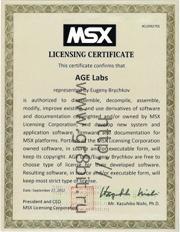 MSX License for GR8BIT platform